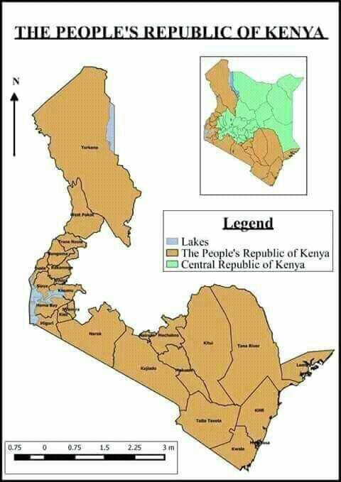 Peoples Republic Of Kenya V Central Republic Of Kenya - Peoples republic map