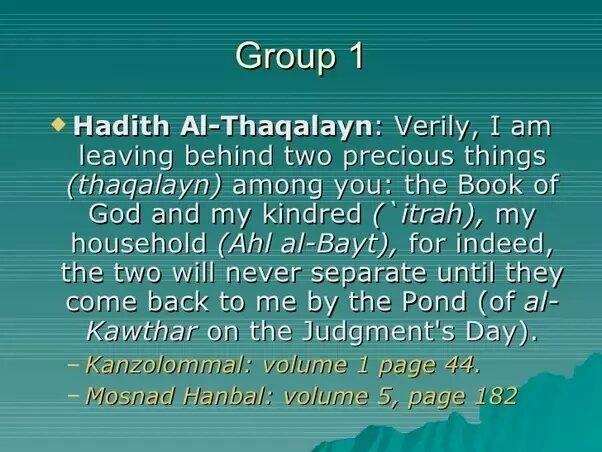 Hadith al-Thaqalayn